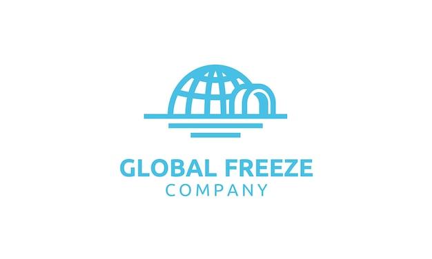 Iglo en globe creatief logo-ontwerp