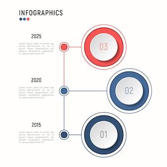 Iinfografische sjabloon voor datavisualisatie. stappen.