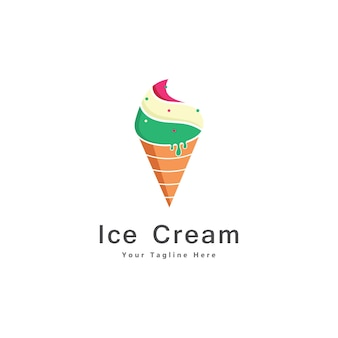 Ijs logo ontwerp pictogram vector