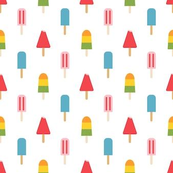 Ijs patroon, kleurrijke zomer achtergrond. elegante en luxe stijlillustratie