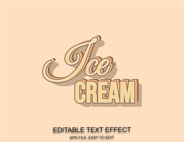 Ijs tekst effect