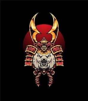 Ijsbeer hoofd vectorillustratie, moderne cartoony stijl geschikt voor t-shirt of print producten