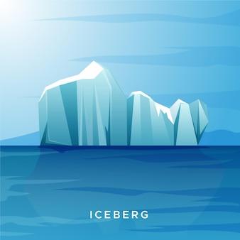 Ijsberg illustratie concept