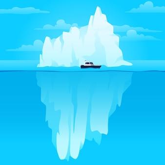 Ijsberg illustratie in de oceaan