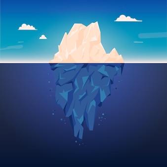 Ijsberg illustratie thema