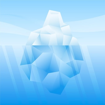 Ijsberg in het zee-concept