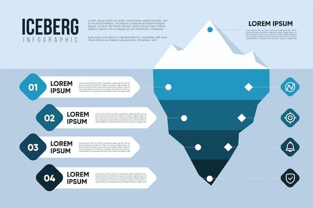 Ijsberg infographic concept