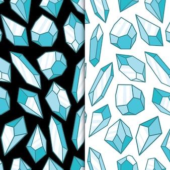 Ijsblauw geometrisch kristaldiamant veelhoekig object edelsteen en juwelenrotsen