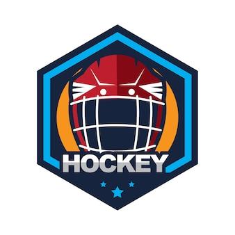 Ijshockey badge, logo, embleem team toernooi sjabloon