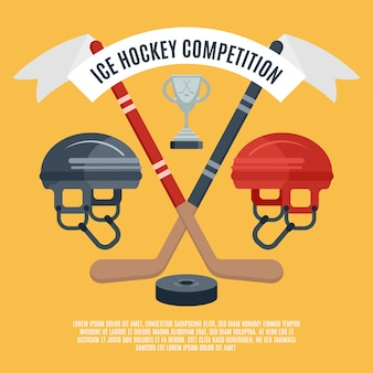Ijshockey competitie vlakke poster