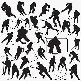 Ijshockey silhouetten