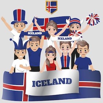Ijsland national team supporter