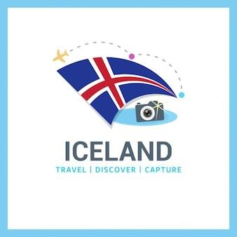 Ijsland travel logo