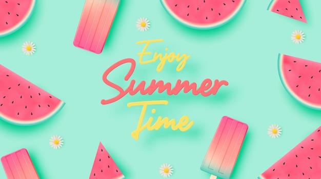 Ijslolly en ijs voor het zomerseizoen