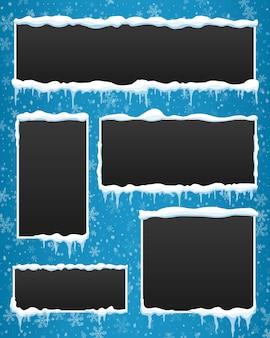 Ijspegel winter banner achtergrond