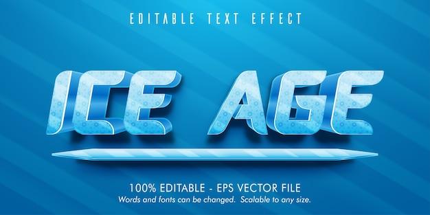Ijstijdtekst, bewerkbaar teksteffect in ijstijdstijl