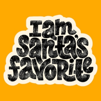 Ik ben de favoriete handgetekende letters van santas voor de kersttijd