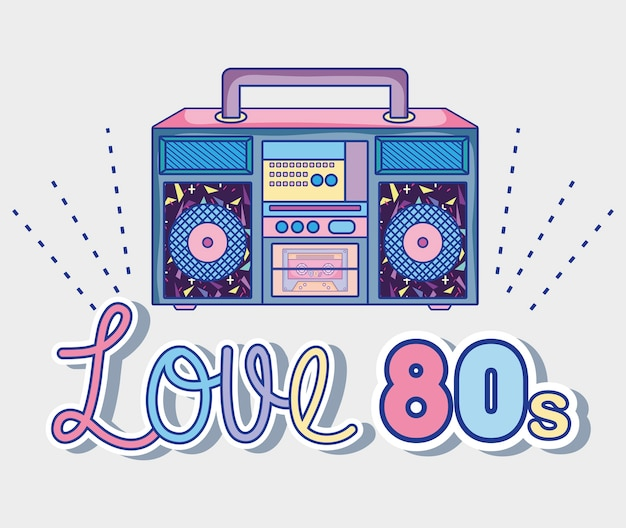 Ik ben dol op cartoon-radio's uit de jaren tachtig