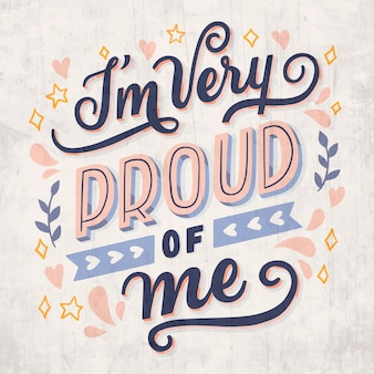 Ik ben erg trots op me zelfliefde belettering