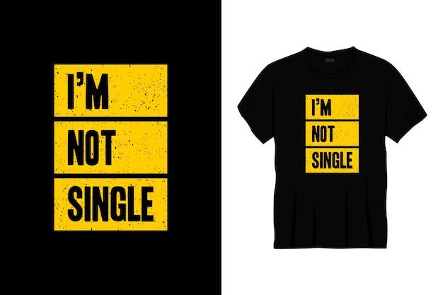 Ik ben geen enkel typografisch t-shirtontwerp