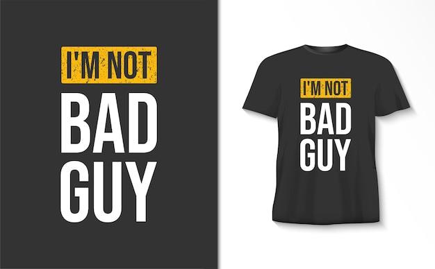Ik ben geen slechte typografiet-shirt