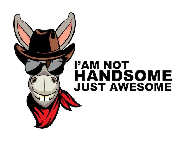 Ik ben niet handsomw gewoon geweldige ezel