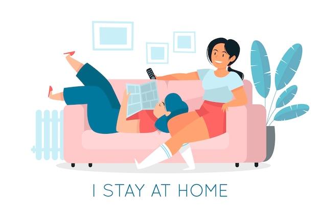 Ik blijf thuis in quarantaine met mijn vriend