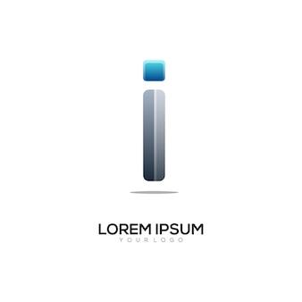 Ik brief logo kleurrijke illustratie