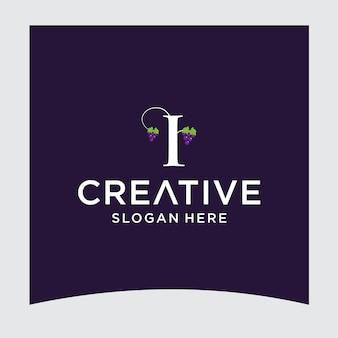 Ik druif logo-ontwerp