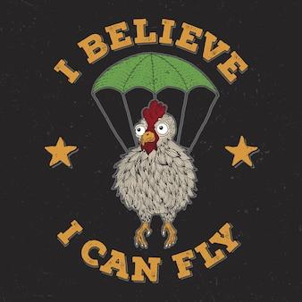 Ik geloof dat ik kan vliegen ontwerp voor t-shirt afdrukken