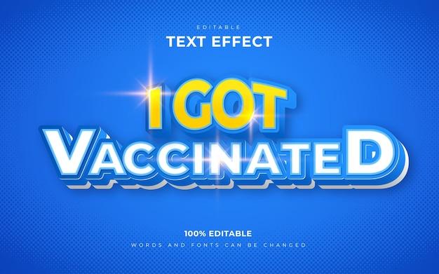 Ik heb een gevaccineerde bewerkbare teksteffectstijl