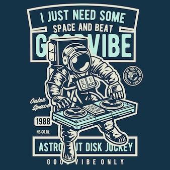 Ik heb gewoon wat ruimte en beat nodig