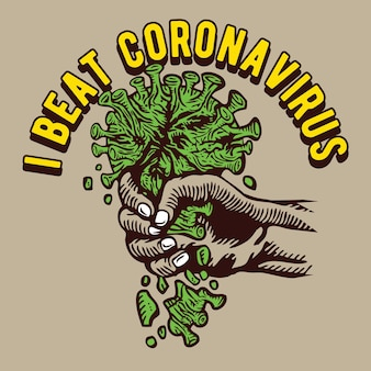 Ik heb het coronavirus-illustratieontwerp verslagen