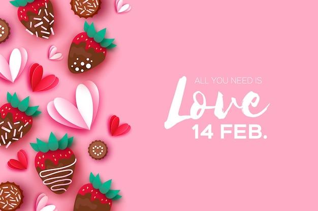 Ik hou van aardbei en chocolade.