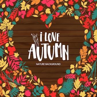 Ik hou van de herfst illustratie