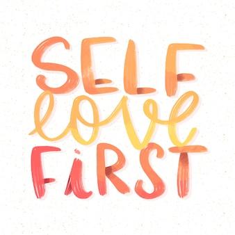 Ik hou van eerste zelfliefde belettering