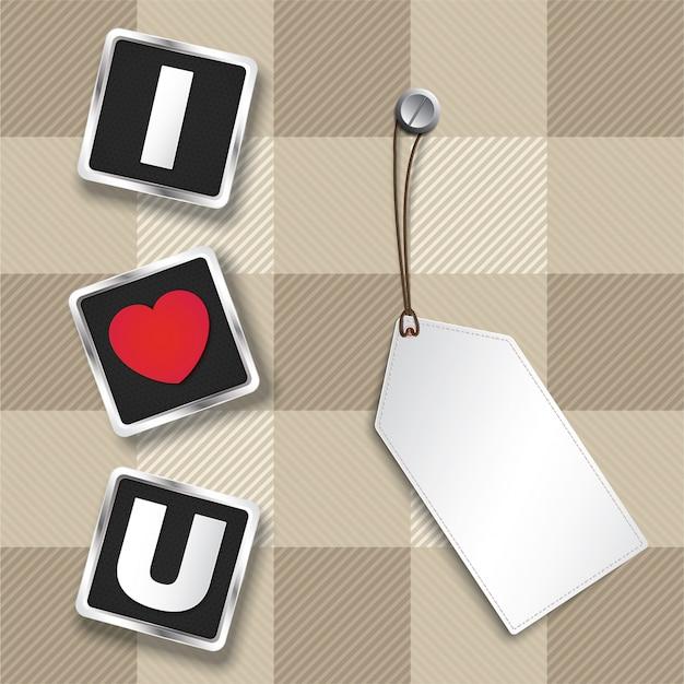 Ik hou van je 3d-tekst om te laten zien voor valentijnsdag.