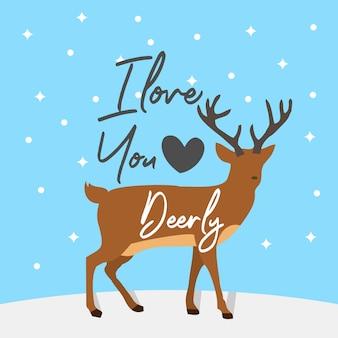 Ik hou van je, hertenliefde