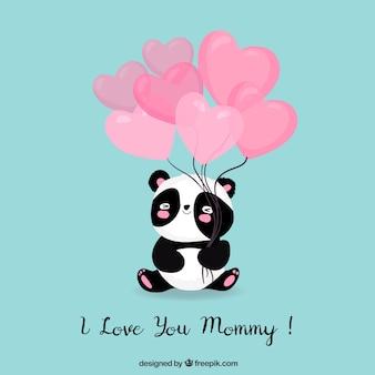 Ik hou van je mama schattige achtergrond