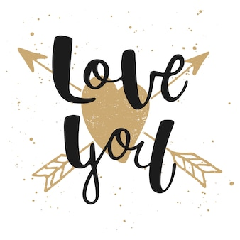 Ik hou van je met hart en pijlen