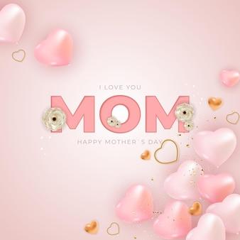 Ik hou van je moeder fijne moederdag