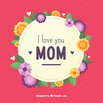 Ik hou van je moeder platte achtergrond