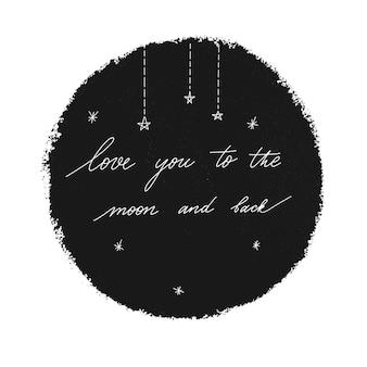 Ik hou van je naar de maan en terug