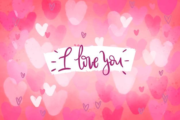 Ik hou van je valentijnsdag achtergrond