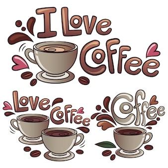 Ik hou van koffie achtergrond