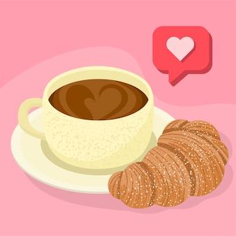 Ik hou van koffie en croissants