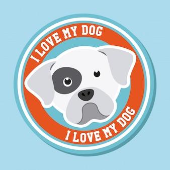 Ik hou van mijn hond grafisch ontwerp