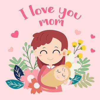 Ik hou van moeder kaart