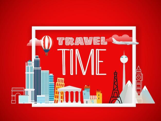 Ik hou van vakantie. reis concept