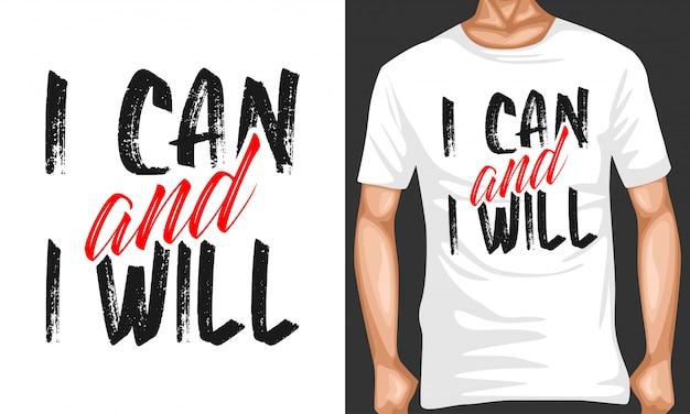 Ik kan en ik zal typografie citaten